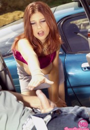 Babe gets fucked in a car (3)